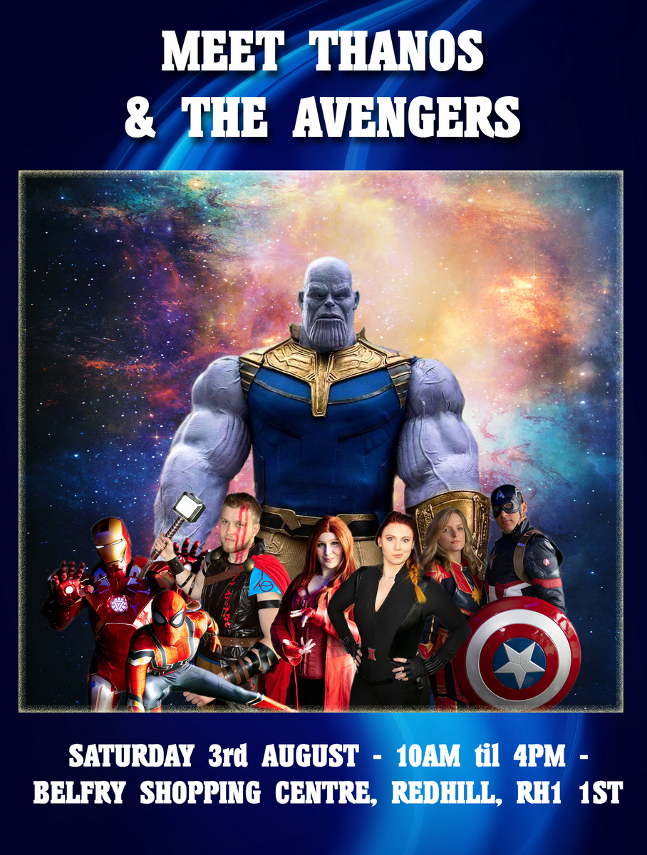 Aspergers, autism, disability, diversity, parenting, special needs, autism awareness, autism acceptance, autism parents, events, autism-friendly, redhill, surrey, belfry shopping centre, Autism All Stars, Thanos, The Avengers